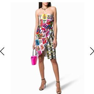 Versace strapless short dress
